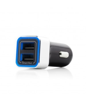 Fast Car Charger 3.4A, 2 x USB Smart Ports, Black