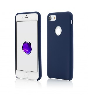 iPhone 8, 7 | Clip-On Soft Touch Silk Series | Dark Blue
