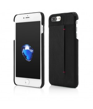 iPhone 7 Plus | Clip-On with Card Port | Genuine Leather Slim | Black