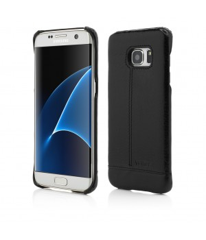 Samsung Galaxy S7 Edge | Clip On | Genuine Leather Slim | Black