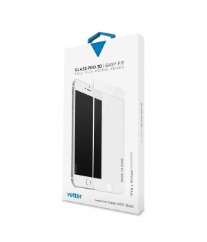 iPhone 7 Plus | 3D Tempered Glass Easy Fit | White