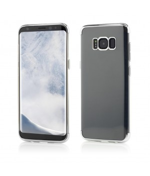 Samsung Galaxy S8 | Smart Case Shiny Soft Series | Silver