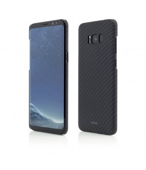 Samsung Galaxy S8 G950, Smart Case Carbon Design, Rubber Feel, Black