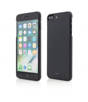 iPhone 7 Plus, Smart Case Carbon Design, Rubber Feel, Black