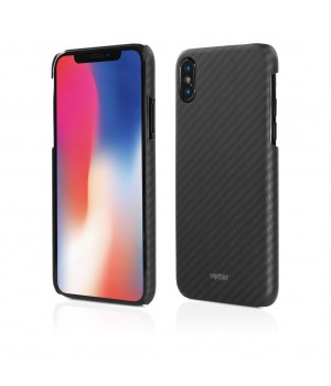 iPhone X | Smart Case Carbon Design | Rubber Feel | Black
