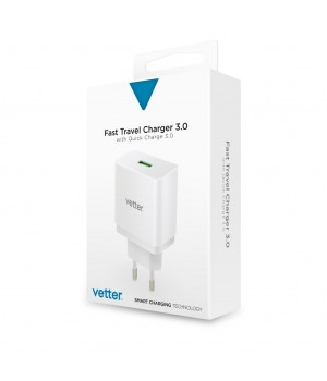 Universal Travel Charger, with Quick Charge 3.0 TECHNOLOGY, White