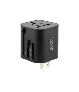 World Travel Adapter Lite, Black