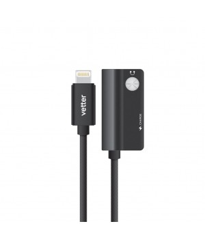 Dual Lightning Audio Adapter, Charging and Music Playback, Black