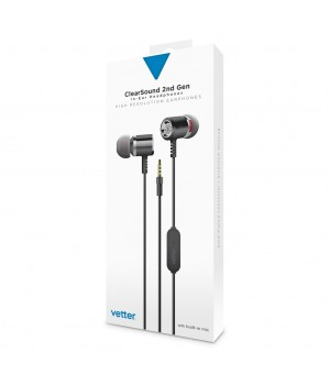 ClearSound In-Ear Headphones 2nd Gen, Handsfree, Grey