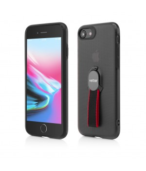 iPhone SE (2020), 8, 7, Smart Case Hybrid, with Removable Strap, Magnetic Ready, Black