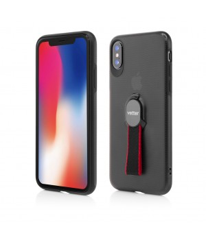 iPhone XS, X, Smart Case Hybrid, with Removable Strap, Magnetic Ready, Black