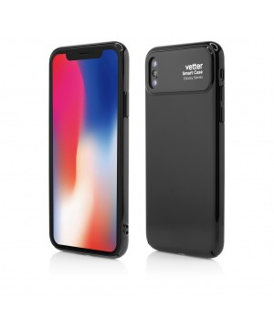 iPhone X, Smart Case Glossy Series, Black