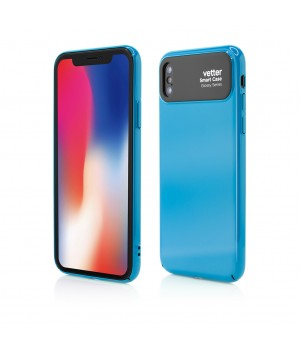 iPhone X, Smart Case Glossy Series, Blue