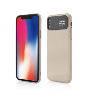 iPhone X, Smart Case Glossy Series, Beige