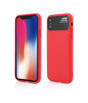 iPhone XS, X, Smart Case Easy Grip, Red