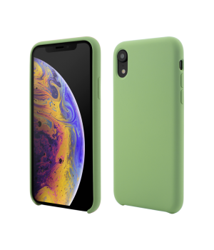 iPhone XR, Clip-On Soft Touch Silk Series, Green