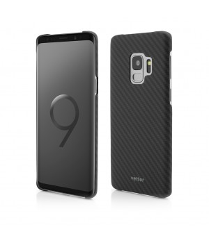 Samsung Galaxy S9 | Clip-On Ultra Slim | made from Aramid Fiber | Kevlar | Black