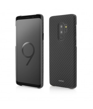 Samsung Galaxy S9 Plus | Clip-On Ultra Slim | made from Aramid Fiber | Kevlar | Black