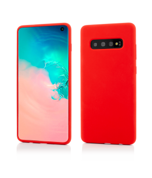 Samsung Galaxy S10, Clip-On Soft Touch Silk Series, Red