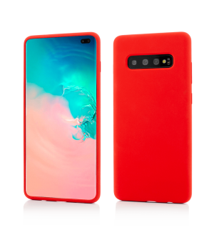 Samsung Galaxy S10+, Clip-On Soft Touch Silk Series, Red