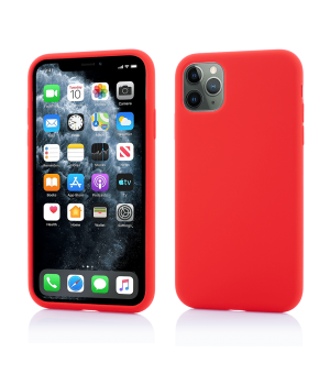 iPhone 11 Pro, Clip-On Soft Touch Silk Series, Red