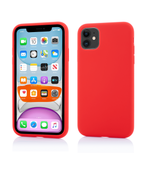 iPhone 11, Clip-On Soft Touch Silk Series, Red