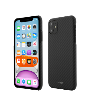 iPhone 11, Clip-On Ultra Slim, Made from Aramid Fiber, Kevlar, Black