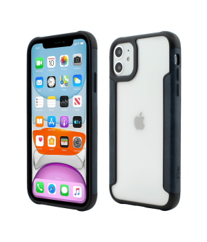 iPhone 11, Smart Case, Soft Edge and Clear Back, Navy Blue