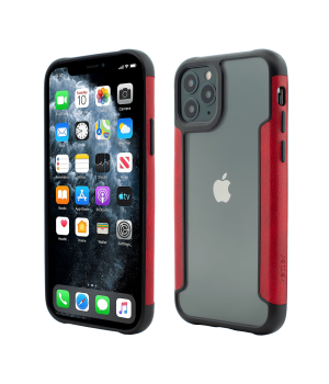 iPhone 11 Pro, Smart Case, Soft Edge and Clear Back, Red