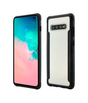 Samsung Galaxy S10, Smart Case, Soft Edge and Clear Back, Black