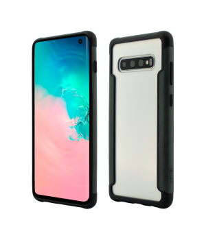 Samsung Galaxy S10, Smart Case, Soft Edge and Clear Back, Green