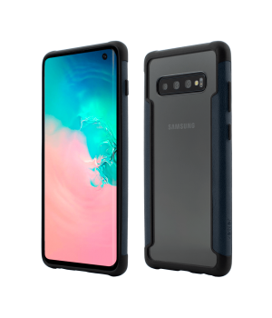 Samsung Galaxy S10, Smart Case, Soft Edge and Clear Back, Navy Blue