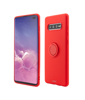 Samsung Galaxy S10 Plus, Soft Pro with Magnetic iStand, Red