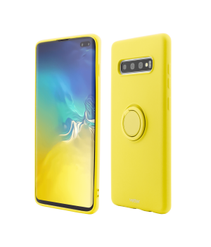 Samsung Galaxy S10 Plus, Soft Pro with Magnetic iStand, Yellow