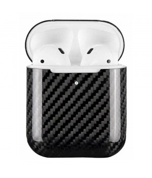 Case for AirPods 2, made from Carbon, Glossy Black