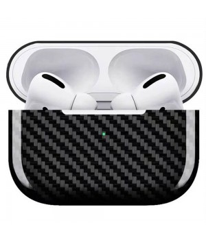 Case for AirPods Pro, made from Carbon, Glossy Black