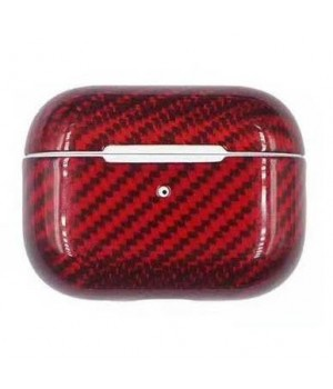 Case for AirPods Pro, made from Carbon, Red