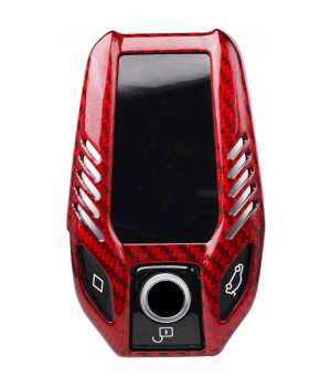 Case for BMW Display Key, made from Carbon, Glossy Red