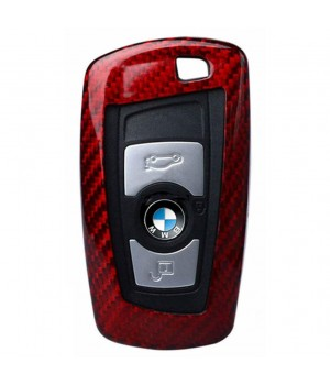 Case for BMW Key F-Series, made from Carbon, Glossy Red