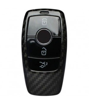 Case for Mercedes-Benz Key from 2016, made from Carbon, Glossy Black