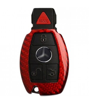 Case for Mercedes-Benz W203, W210, W211, made from Carbon, Glossy Red