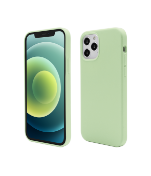 iPhone 12 Pro, 12, Clip-On Soft Touch Silk Series, Green