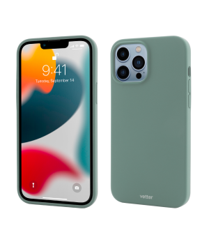 iPhone 13 Pro, Clip-On Soft Touch Silk Series Mag Safe Compatible, Green